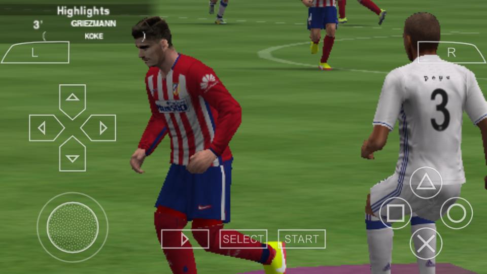 لعبة كرة القدم PES 2017 على محاكي PSP للأندرويد